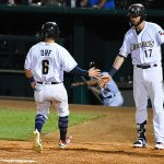 Nate Orf. The Missions scored three runs in the ninth inning to beat the Iowa Cubs 4-3 on Tuesday at Wolff Stadium. - photo by Joe Alexander