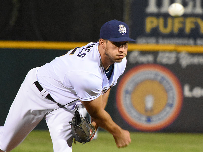 Jacob Barnes earned the win as the San Antonio Missions beat the Iowa Cubs 4-3 on Tuesday at Wolff Stadium. - photo by Joe Alexander