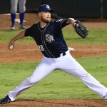 The Brewers' Jimmy Nelson pitches for the San Antonio Missions on Wednesday at Wolff Stadium. - photo by Joe Alexander
