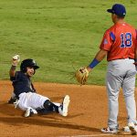 Missions shortstop Mauricio Dubon playing against the Iowa Cubs on Wednesday at Wolff Stadium. - photo by Joe Alexander