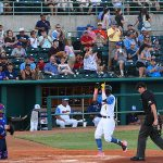 Missions shortstop Mauricio Dubon playing against the Iowa Cubs on Thursday at Wolff Stadium. - photo by Joe Alexander