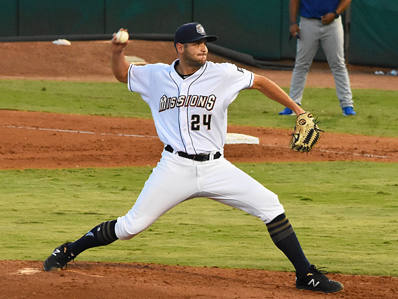 Missions pitcher Thomas Jankins is 7-0 in his last nine starts after getting the win against the Storm Chasers on Saturday at Wolff Stadium. - photo by Joe Alexander
