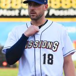 Travis Shaw had one hit and played third base for the Missions on Monday at Wolff Stadium. - photo by Joe Alexander