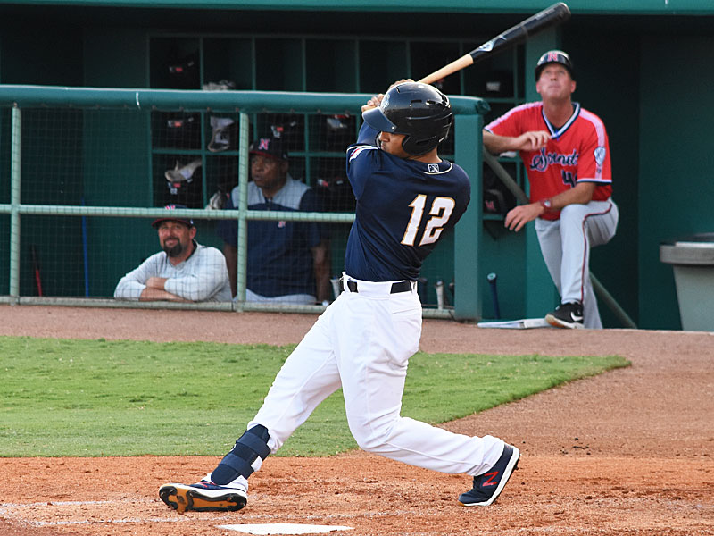 The Missions' Trent Grisham had a bunt single and a solo home run on Tuesday against Nashville at Wolff Stadium. - photo by Joe Alexander