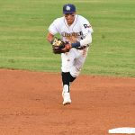 Missions shortstop Mauricio Dubon playing at Wolff Stadium this season. - photo by Joe Alexander
