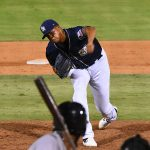 Angel Perdomo entered in the seventh inning and finished the game on the mound for the San Antonio Missions on Sunday at Wolff Stadium. - photo by Joe Alexander