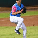 Milwaukee Brewers pitcher Brent Suter playing for the San Antonio Missions in a rehab appearance on Thursday at Wolff Stadium. - photo by Joe Alexander