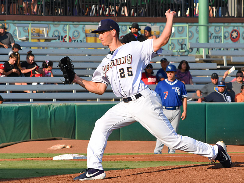Milwaukee Brewers pitcher Brent Suter on the mound for the San Antonio Missions on Sunday at Wolff Stadium. - photo by Joe Alexander