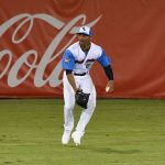 Missions centerfielder Corey Ray at Wolff Stadium on Thursday night. - photo by Joe Alexander