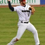 Cory Spangenberg playing for the Missions at Wolff Stadium during the 2019 season. - photo by Joe Alexander