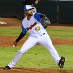 Devin Williams pitching for the San Antonio Missions on Wolff Stadium on Aug. 1. - photo by Joe Alexander