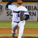Milwaukee Brewers reliever Freddy Peralta pitching for the San Antonio Missions on Friday at Wolff Stadium. - photo by Joe Alexander