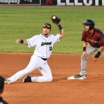 Hernan Perez playing for the San Antonio Missions at Wolff Stadium this season. - photo by Joe Alexander