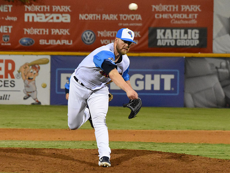 Missions relief pitcher Jimmy Nelson gave up two runs in the eighth inning on Thursday at Wolff Stadium. - photo by Joe Alexander