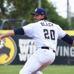 Ray Black pitching for the San Antonio Missions at Wolff Stadium. - photo by Joe Alexander