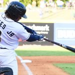 Missions outfielder Troy Stokes Jr. playing at Wolff Stadium during the 2019 season. - photo by Joe Alexander