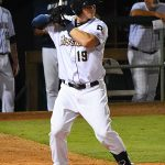 Tyler Austin bats at Wolff Stadium in Friday in his first game with the San Antonio Missions. - photo by Joe Alexander