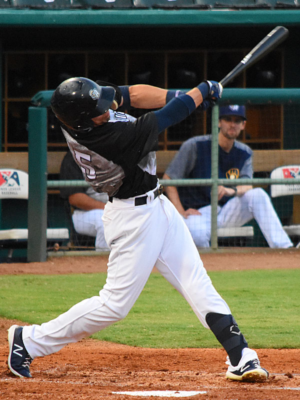 The San Antonio Missions' Tyrone Taylor had three hits including a home run Saturday at Wolff Stadium. - photo by Joe Alexander