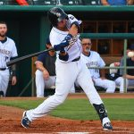 The San Antonio Missions' Tyrone Taylor hit his 13th home run of the season in the first inning on Sunday at Wolff Stadium. - photo by Joe Alexander