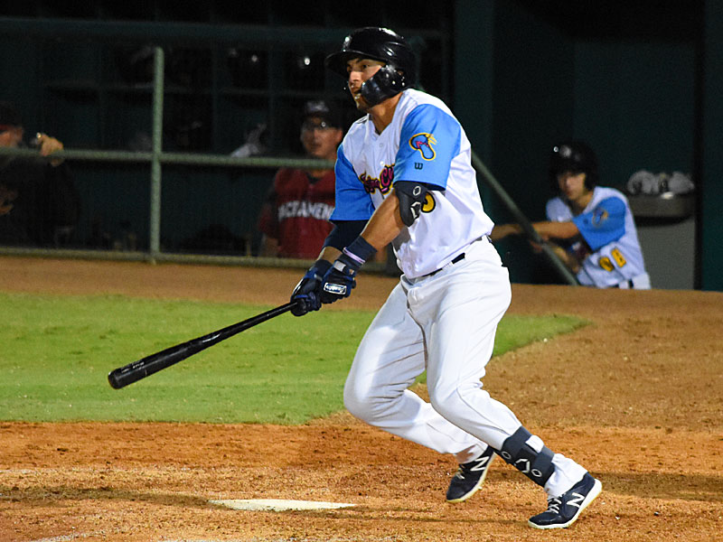 Tyrone Taylor playing for the San Antonio Missions at Wolff Stadium during the 2019 season. - photo by Joe Alexander