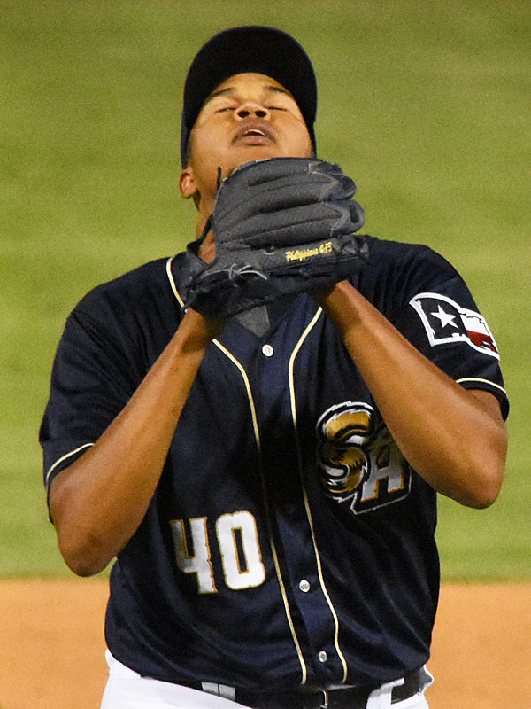 Angel Perdomo. 2019 San Antonio Missions season at Wolff Stadium. - photo by Joe Alexander