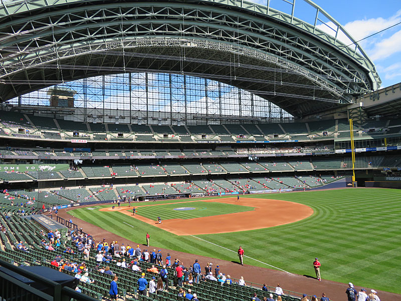 Miller Park in Milwaukee during the Brewers vs. Cardinals day game on Wednesday, Aug. 28, 2019. - photo by Joe Alexander