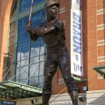 The Henry Aaron statue at Miller Park in Milwaukee. - photo by Joe Alexander