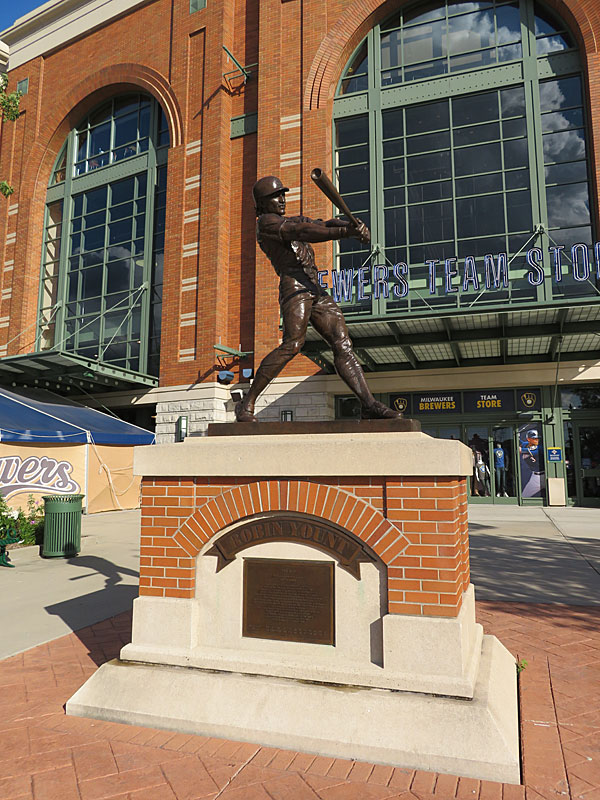 The Robin Yount statue at Miller Park in Milwaukee. - photo by Joe Alexander