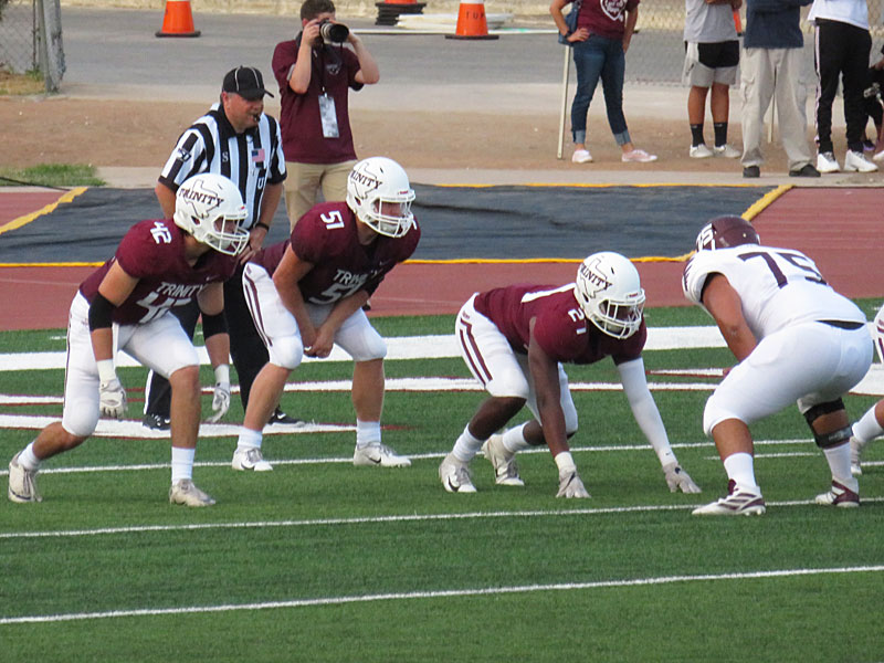 Trinity beat McMurry on Thursday, Sept. 5, 2019, in the Tigers' season opener. - photo by Joe Alexander