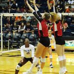 Julia Monday, Allison Waits. UTSA beat Incarnate Word on Tuesday, Sept. 17, 2019, at the UTSA Convocation Center.