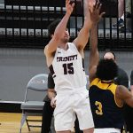 Stephen Molina. Trinity beat Howard Payne 90-78 on Monday. - photo by Joe Alexander
