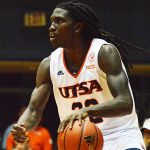 UTSA junior Keaton Wallace, Jackson, playing against Texas A&M International in an exhibition game on Oct. 30, 2019, averaged 20.2 points and 5.0 assists for the Roadrunners last season. - photo by Joe Alexander