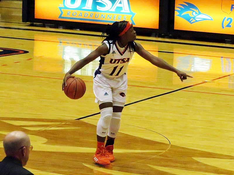 Charlene Mass had 10 points for UTSA in a 63-56 victory over UIW on Monday at the UTSA Convocation Center. - photo by Joe Alexander