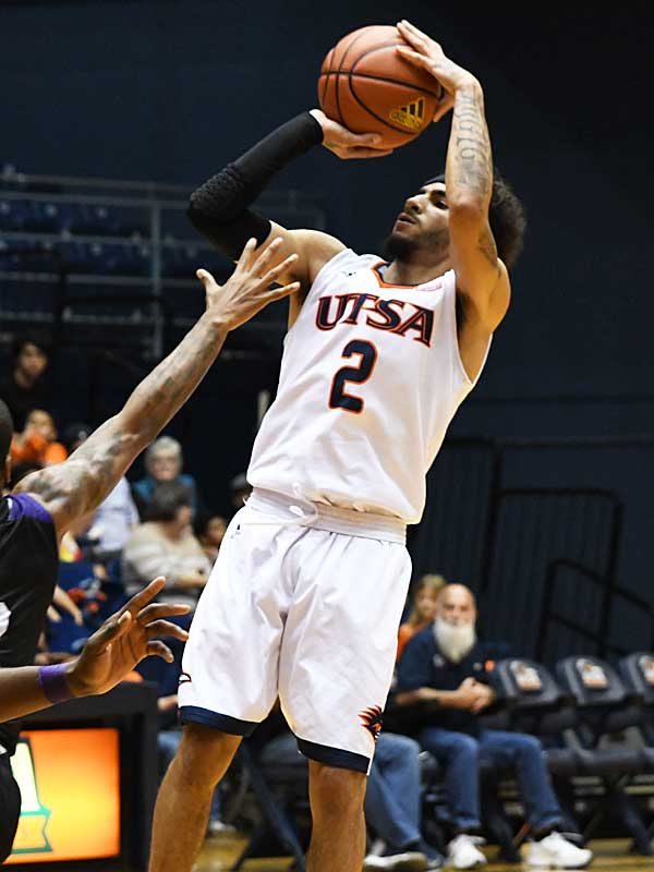 Jhivvan Jackson had 30 points, 4 rebounds and 2 assists for UTSA in a loss to Prairie View A&M on Saturday at the UTSA Convocation Center. - photo by Joe Alexander