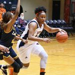 Karrington Donald. The UTSA women's basketball team beat Texas Wesleyan 80-78 on Friday at the UTSA Convocation Center. - photo by Joe Alexander