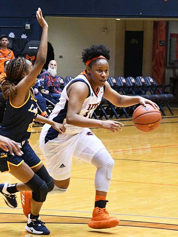 Karrington Donald. The UTSA women's basketball team beat Texas Wesleyan 80-78 on Friday at the UTSA Convocation Center. - photo by Joe Alexander