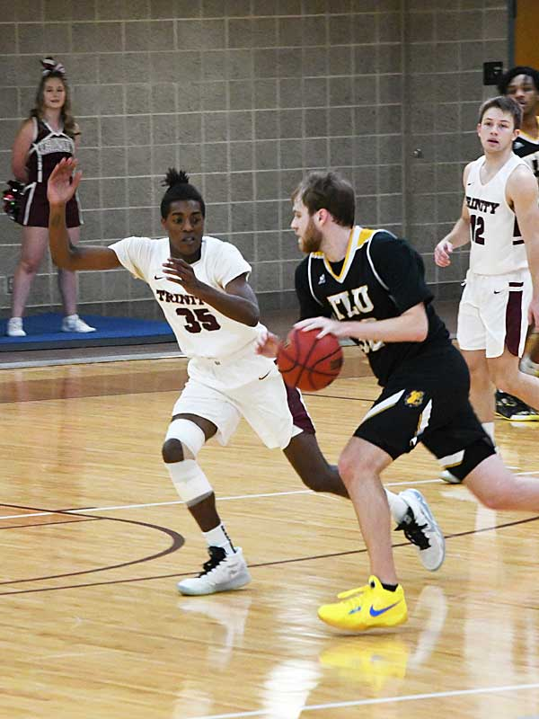 Jordan Lippman. Trinity beat Texas Lutheran 87-79 in men's basketball on Friday at Trinity. - photo by Joe Alexander