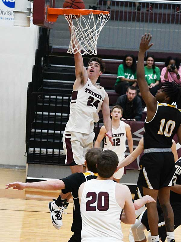 Ben Hanley. Trinity beat Texas Lutheran 87-79 in men's basketball on Friday at Trinity. - photo by Joe Alexander