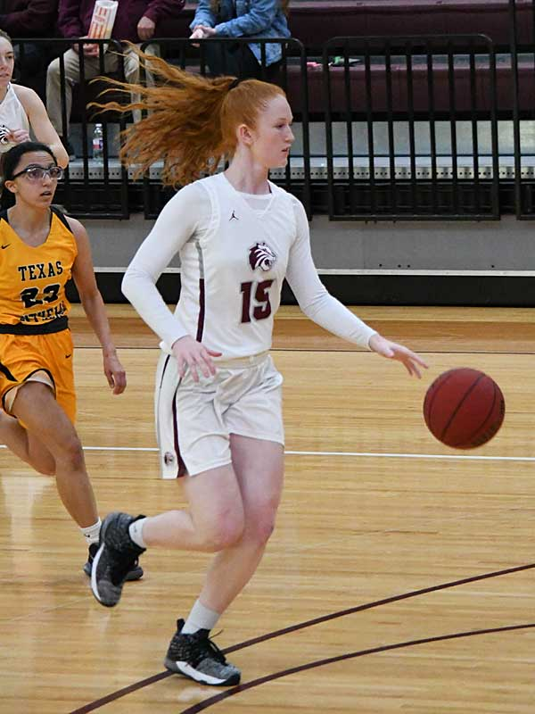 Trinity's Abby Holland led the Tigers to a victory over Texas Lutheran on Friday at Trinity. - photo by Joe Alexander