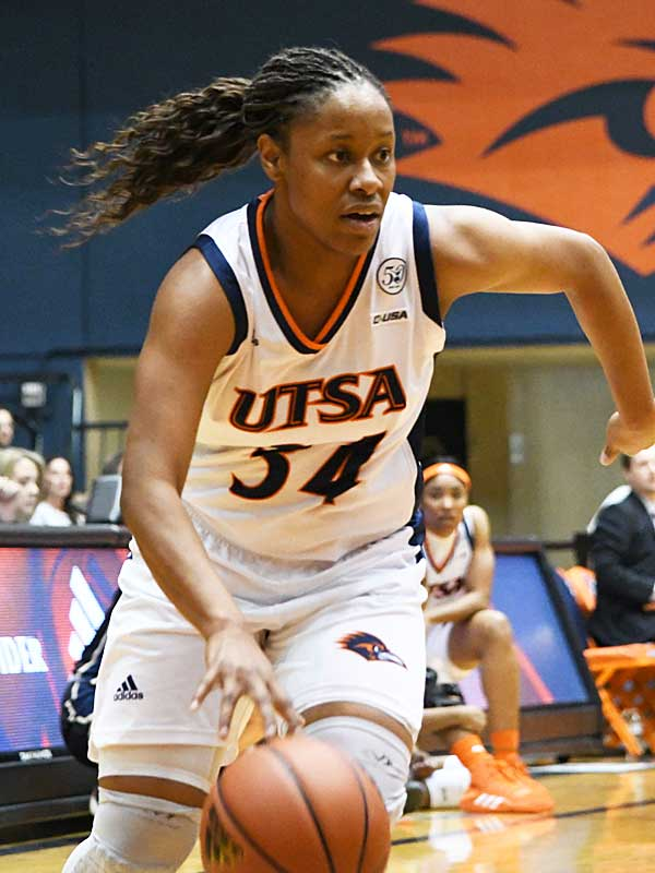 Karrington Donald hit four 3-pointers and scored 18 points to lead UTSA past Florida International on Saturday at UTSA. - photo by Joe Alexander
