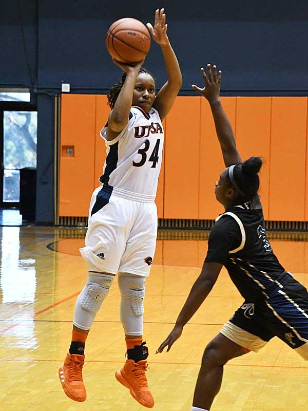 Karrington Donald. UTSA beat Florida International 60-45 in women's basketball on Saturday at UTSA. - photo by Joe Alexander