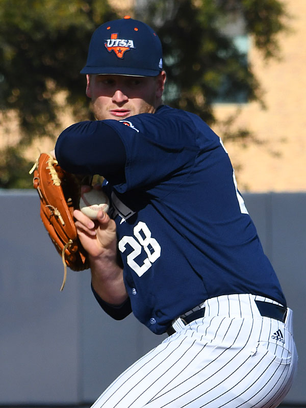 UTSA starter Slater Foust (3-0) pitched six scoreless innings in a 4-1 victory over Grambling on Friday. - photo by Joe Alexander