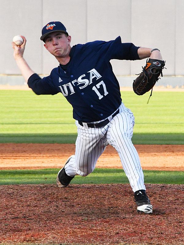 UTSA's Jack Engelmann pitching against Grambling on Friday. - photo by Joe Alexander