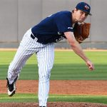 UTSA's Cole McKay pitching against Grambling on Friday. - photo by Joe Alexander