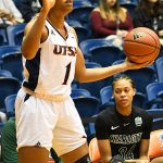 Evelyn Omemmah. Charlotte beat the UTSA women in CUSA on Saturday. - photo by Joe Alexander