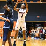 Mikayla Woods. Old Dominion beat UTSA in CUSA women's basketball on Thursday at UTSA. - photo by Joe Alexander