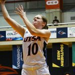 Karley Larson. UTEP women beat UTSA 85-59 on Thursday at the UTSA Convocation Center. - photo by Joe Alexander