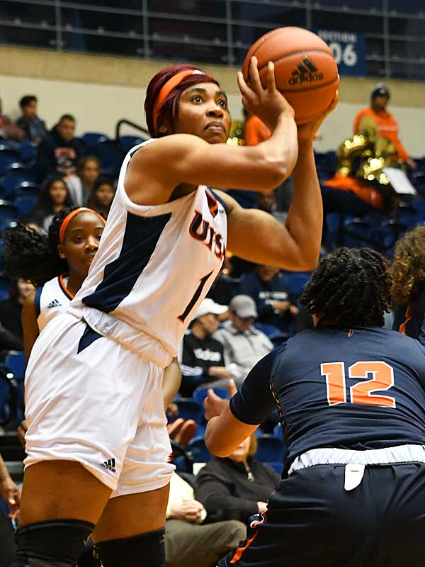 Evelyn Omemmah led UTSA with a career-high 17 points in Thursday's loss to UTEP. - photo by Joe Alexander