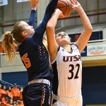 Adryana Quezada. UTEP women beat UTSA 85-59 on Thursday at the UTSA Convocation Center. - photo by Joe Alexander
