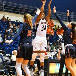 Karrington Donald. UTEP women beat UTSA 85-59 on Thursday at the UTSA Convocation Center. - photo by Joe Alexander